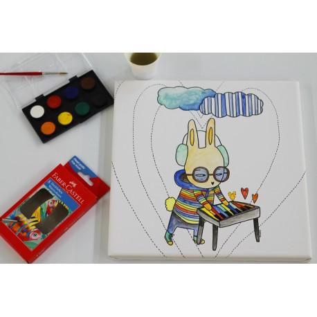 Cuadro para colorear 30x30cm / FOCU Paint