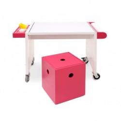 Conjunto mesa arte chico con caja + 1 cubo