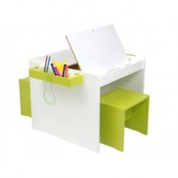 Conjunto escritorio doble + 2 bancos