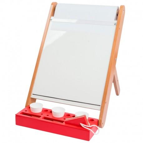Pizarra de mesa con rollo para marcador