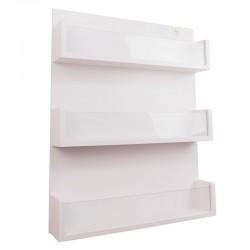 Librero de pared con acrilico