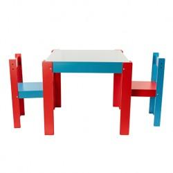 Conjunto mesa con pizarra + 2 sillas