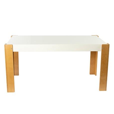 Mesa rectangular tapa fija con pizarra